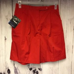 Vintage Head Size 12 Red Golf Shorts New